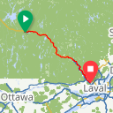 Map image of a Route from December  6, 2011