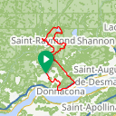 Map image of a Route from June 12, 2015
