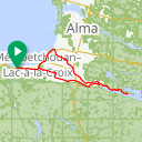 Map image of a Route from June 15, 2015