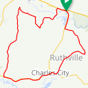 Map image of a Route from June 20, 2015
