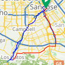 Map image of a Route from June 21, 2015