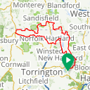 Map image of a Route from June 23, 2015