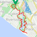 Map image of a Route from June 25, 2015