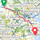 Map image of a Route from January  9, 2012