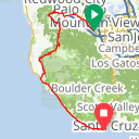 Map image of a Route from July  4, 2015