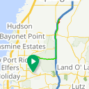 Map image of a Route from January 22, 2012