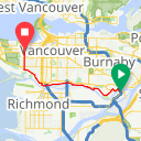 Map image of a Route from July  7, 2015
