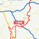 Map image of a Route from July 12, 2015