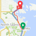 Map image of a Route from July 13, 2015