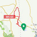 Map image of a Route from July 21, 2015
