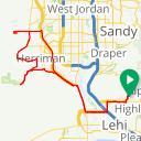 Map image of a Route from July 22, 2015