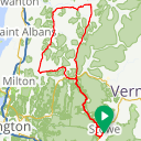 Map image of a Route from July 29, 2015