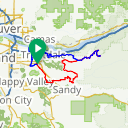 Map image of a Route from August  9, 2015