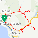 Map image of a Route from August 15, 2015