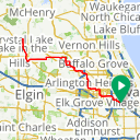 Map image of a Route from August 16, 2015