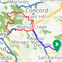 Map image of a Route from August 17, 2015