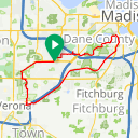 Map image of a Route from August 20, 2015
