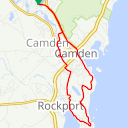 Map image of a Route from June  6, 2013