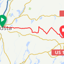 Map image of a Route from June  8, 2013
