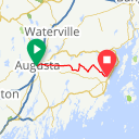 Map image of a Route from July 12, 2013