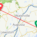Map image of a Route from August 11, 2013