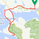 Map image of a Route from September  1, 2013