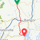 Map image of a Route from September  9, 2013