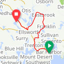 Map image of a Route from September 14, 2013