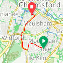Map image of a Route from April 11, 2014