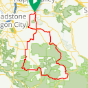 Map image of a Route from August  7, 2011
