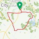 Map image of a Trip from February  8, 2015