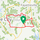 Map image of a Trip from March  8, 2015