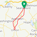 Map image of a Route from April 12, 2015