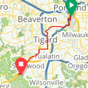 Map image of a Trip from May 15, 2012