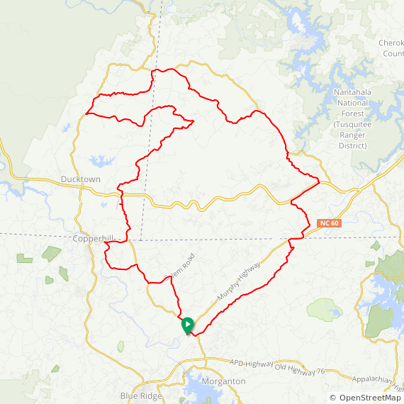 Map image of a Trip from October 20, 2012