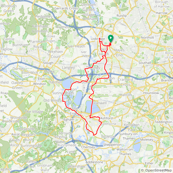 Map image of a Trip from December  5, 2012