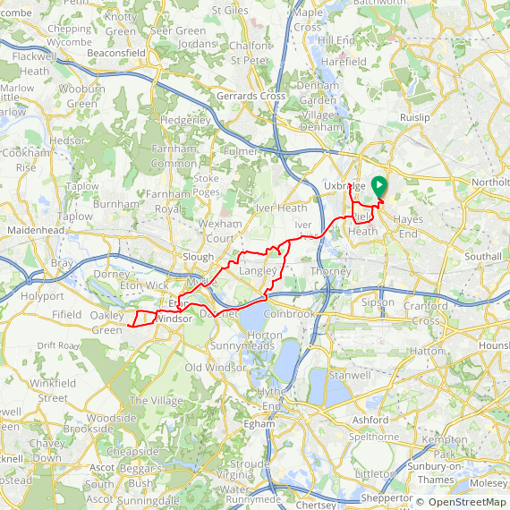 Map image of a Trip from November 16, 2016