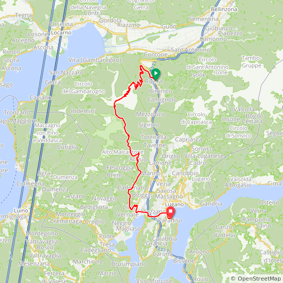 Map image of a Trip from January 11, 2017