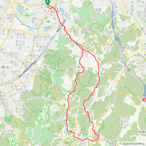 Map image of a Trip from March 16, 2017