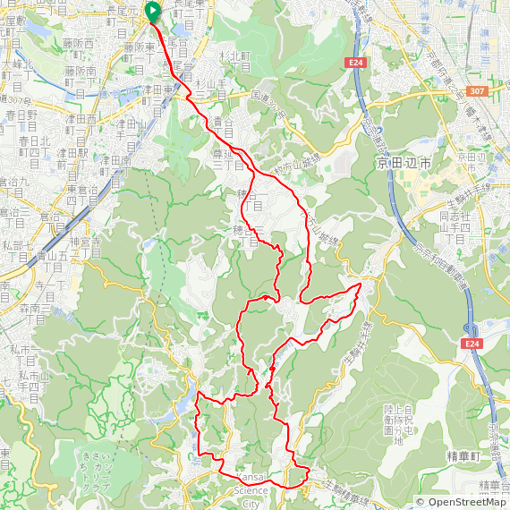 Map image of a Trip from April 30, 2017