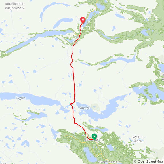 Map image of a Trip from May 29, 2017