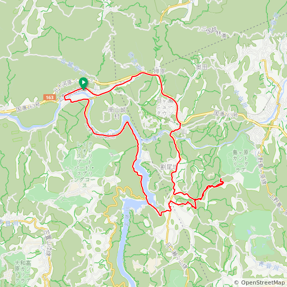 Map image of a Trip from June 10, 2017
