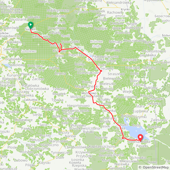 Map image of a Trip from July 12, 2017