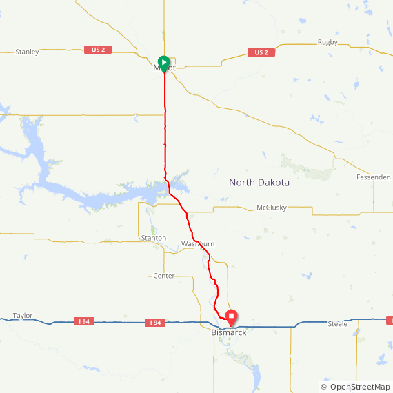 Map image of a Trip from September  5, 2017