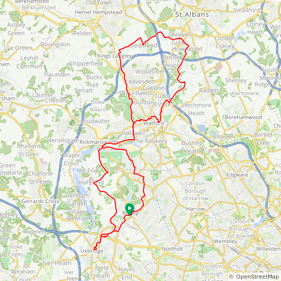 Map image of a Trip from November  5, 2017