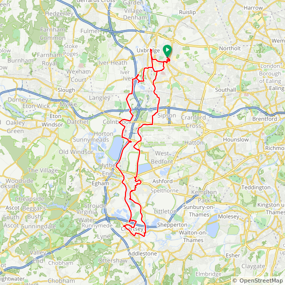 Map image of a Trip from November  8, 2017