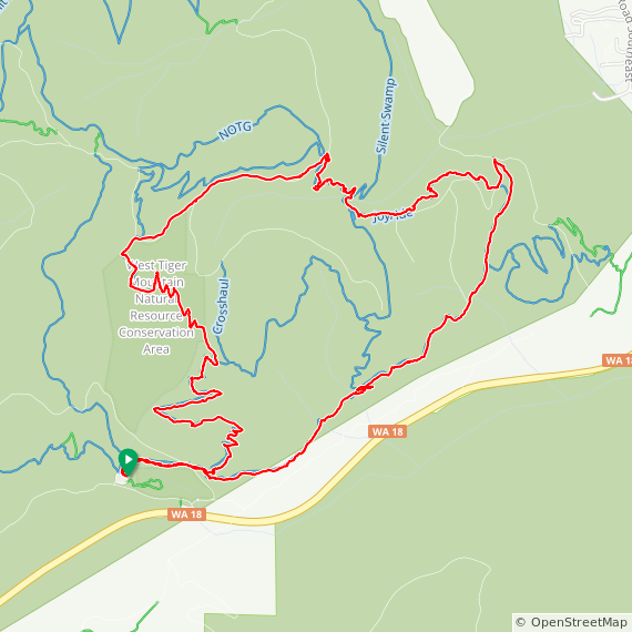 Map image of a Trip from November 10, 2017