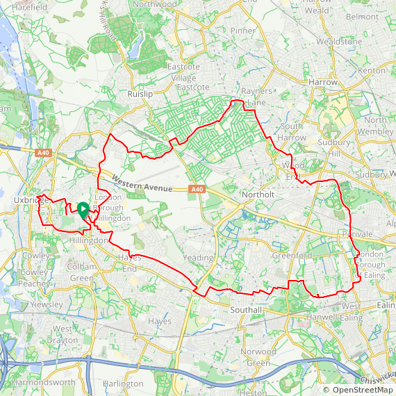 Map image of a Trip from November 15, 2017