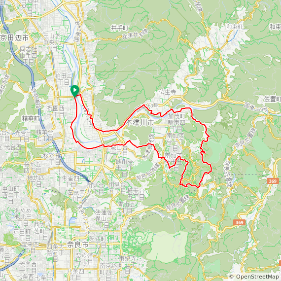 Map image of a Trip from December 15, 2017