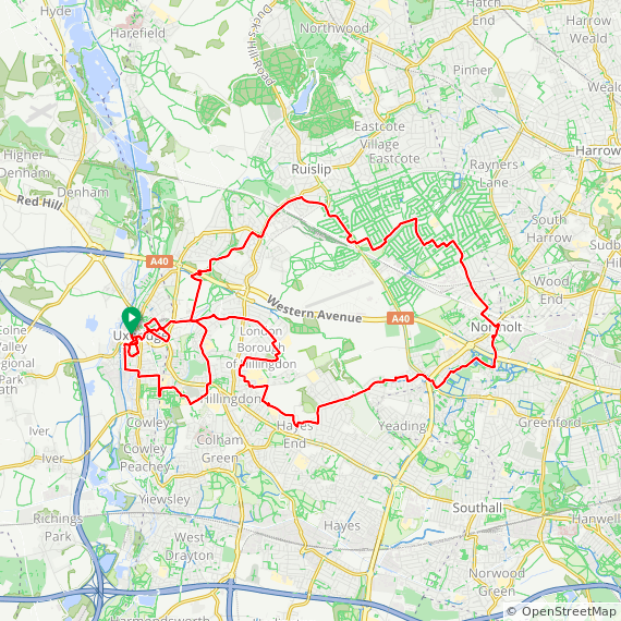Map image of a Trip from December 24, 2017